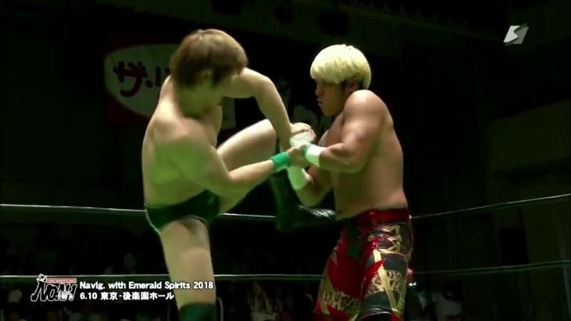 Kaito Kiyomiya vs. Kenou (NOAH - Navigation with Emerald Spirits 2018)
