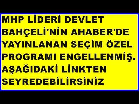 Mhp Lideri Devlet Bahçeli Ahaberde 20.6.2018