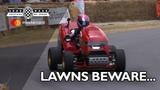 World's fastest lawn mower cuts through FOS hill