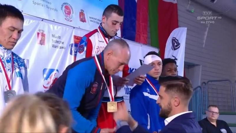 Церемония награждения в/к 81 кг. международного турнира памяти Феликса Штамма.