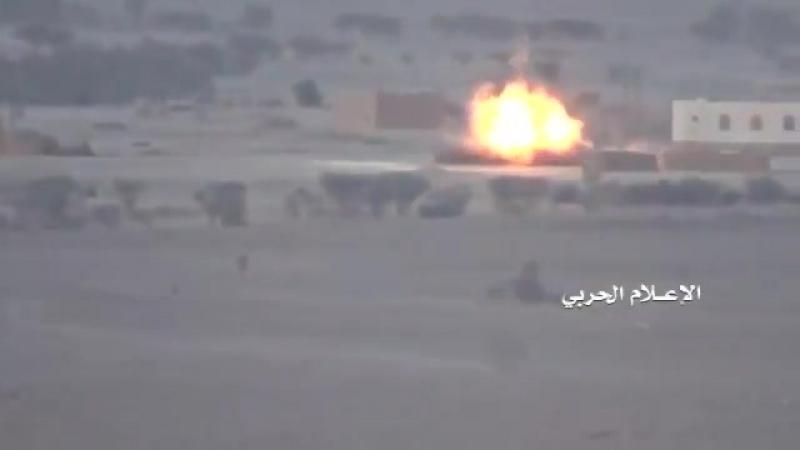 Houthi ATGM strike hit pro-Hadi forces vehicle in Jawf.