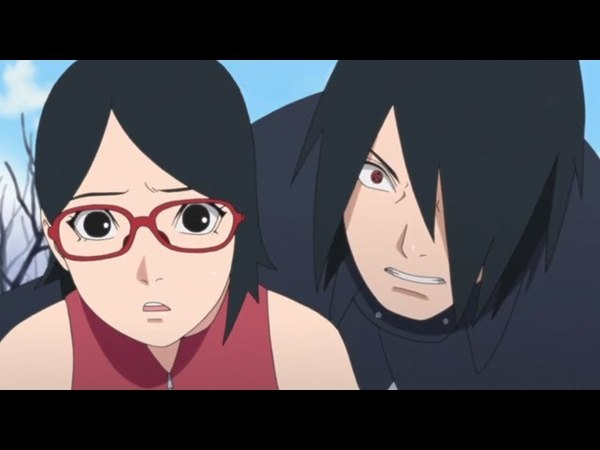 Саске, Наруто и Сакура против Шина Учиха (Полный бой) Моменты аниме Боруто