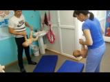 Наш инструктор Нуруллина Гульнара проводит воздушную гимнастику
