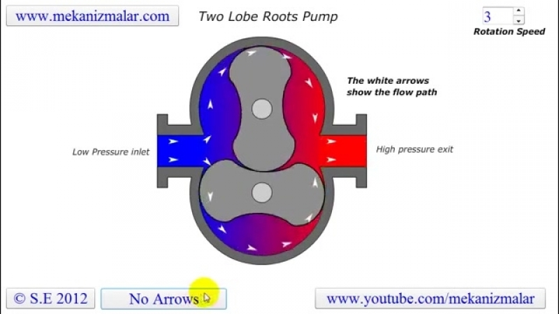 Roots Pump Two Lobe