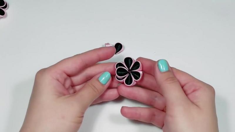Тройной цветок канзаши2. Мастер класс