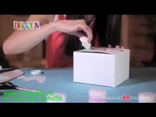 Шкатулка из картонной коробки (www.lavka56.ru)