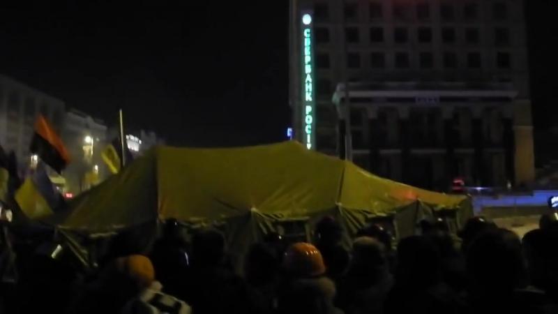 Штурм Майдану 11.12.13 - Набат Михайлівського Собору, гімн Руслани 0200