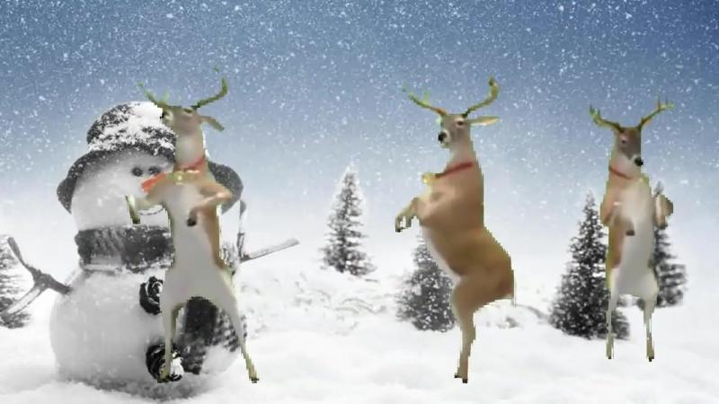Новогодний танец оленей_ Бубенцы бубенцы радостно галдят