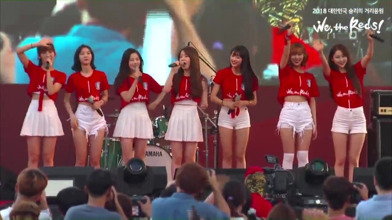 · Perfomance · 180618 · OH MY GIRL - The Shouts of Reds Secret Garden A-ing Windy Day · Gyeonggi Cheering Event ·