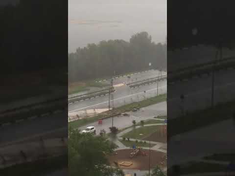 Потоп на Волжской набережной в Нижнем Новгороде повторился
