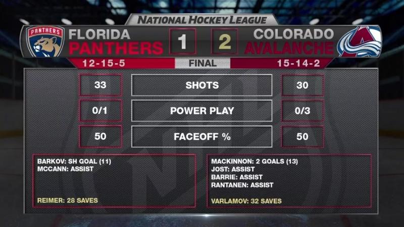 Panthers vs. Avalanche 1-2 (15/12/17)