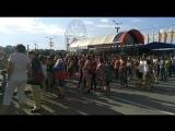 Болельщики на фан-зоне в Чебоксарах на Красной площади