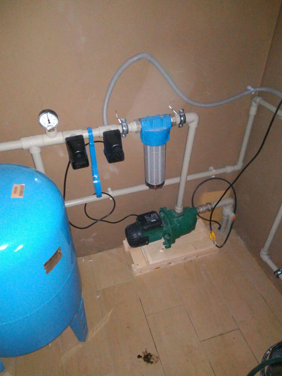 узел ввода воды из скважины каркасный дом
