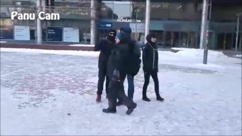 Taas Panu pidätetään - Narinkkatorilla 17.2.2018