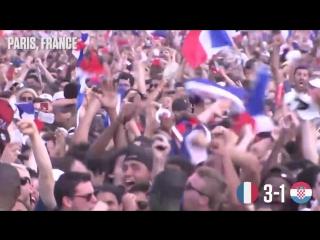 France 4-2 Croatia- Paris Goes Crazy Celebrating Amazing World Cup Final Win