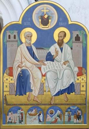 Праздник славных и всехвальных первоверховных апостолов Петра и Павла.
