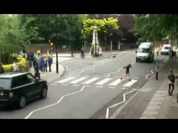 Abbey Road TODAY! Secret Filming of people at the The zebra crossing. beatlemania