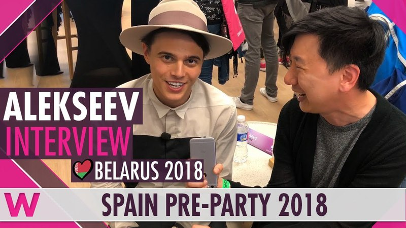 Alekseev (Belarus 2018) Interview | Eurovision Spain PreParty 2018