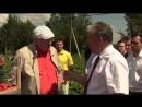 Владимир Жириновский на сборе клубники в совхозе им.Ленина, июль 2017 г.
