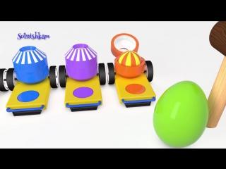 Яйца с сюрпризом Шарики и Молоток Учим цвета Surprise eggs Развивающий мультик для детей.mp4