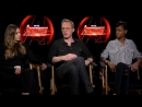 Avengers Infinity War interview with Paul Bettany Elizabeth Olsen Letitia Wright