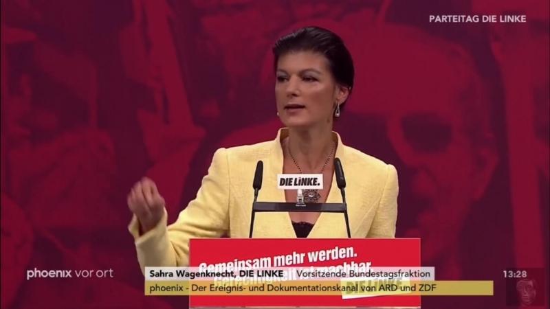 Tumulte nach Rede von Sahra Wagenknecht (Linke) Mitglieder fordern berechtigten Rücktritt