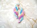 DIY Aretes nudos macramé ondas arco iris Earrings DIY macrame knots iris bow airwaves