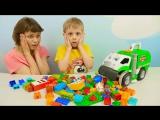 МАШИНКА МУСОРОВОЗ Мистер Дасти поедающий конструктор ЛЕГО   Развивающее и весёлое видео для детей