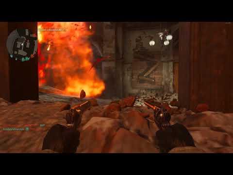 Coll of Duty WW2 бой с пистолетами парные.