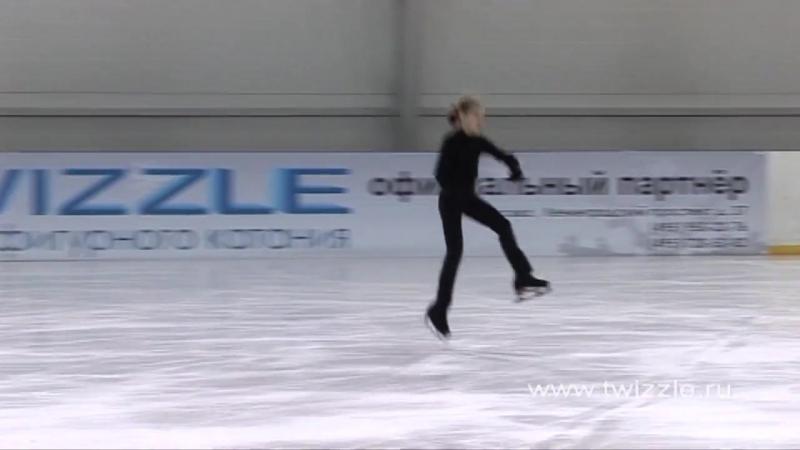 Лутц (1 оборот) в исполнении Аделины Сотниковой