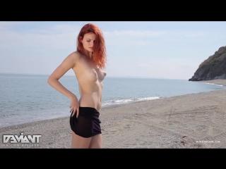 Klarissa Sexy Model Redhead Black Dress Nude Ass Tits Legs Секси Рыжая Модель Снимает Мини Платье Сиськи Попка Ножки Эротика Ню