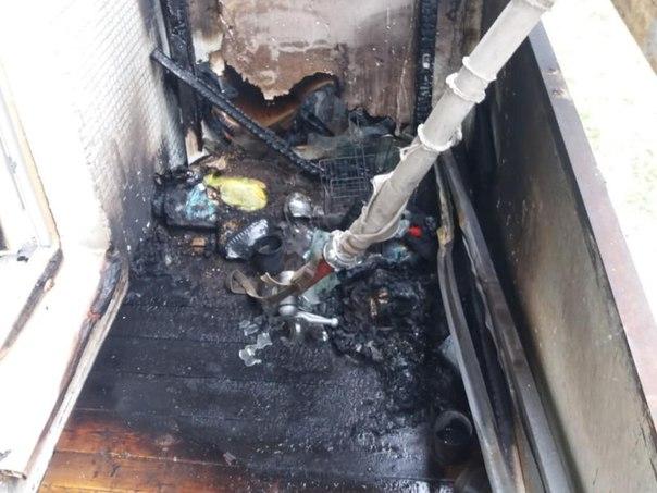 Пожар в Усть-Илимске на ул. Мира, 13