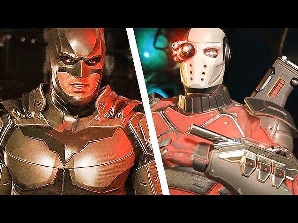 INJUSTICE 2 All BATMAN Vs DEADSHOT Intro Dialogues