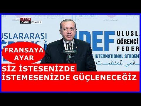 Cumhurbaşkanı Erdoğanın UDEF 11. Uluslararası Öğrenci Buluşmalarının Final Konuşması 12 Mayıs 2018