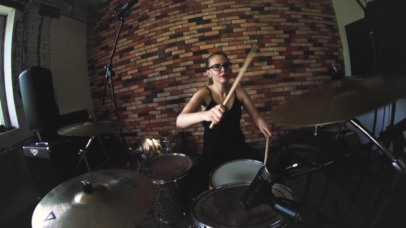 Muse - Supermassive Black Hole - Drum cover - Галина Лисица(GORODKOVDRUM)