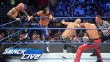 AJ Styles &amp Gallows &amp Anderson vs. Shinsuke Nakamura &amp Rusev Day SmackDown LIVE, April 24, 2018