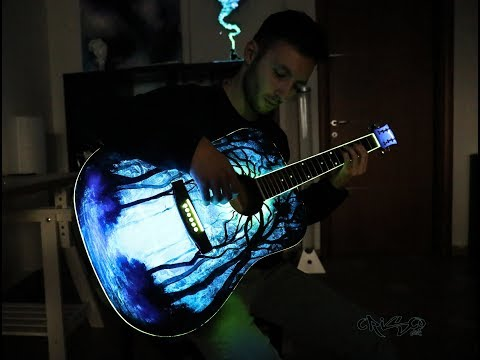Crisco Art Makes a glowing Guitar