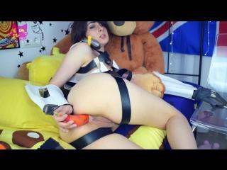 [manyvids] рitуkittу - s class: tracer slut of the game (1080p) [amateur, petite teen, solo, masturbation, cosplay, dildo, anal]
