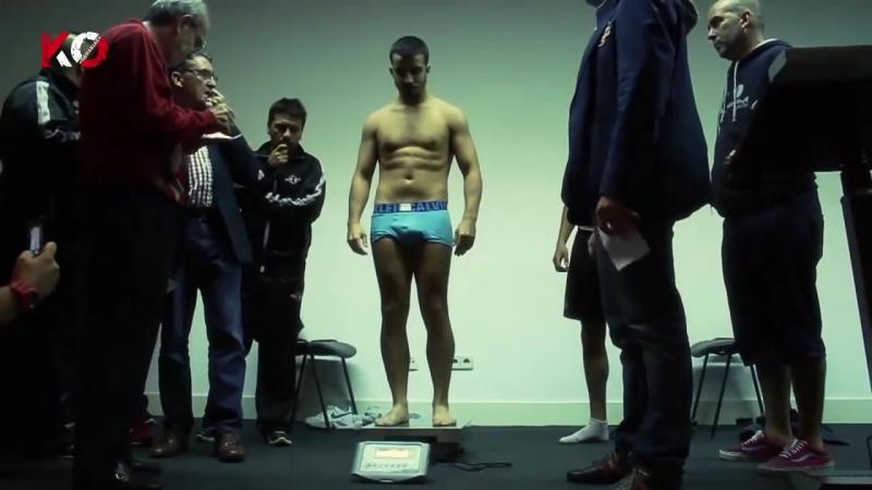 Pesaje velada Ibrahim Lopez vs Cesar Cordoba