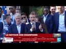 Vive la République et Vive la France : Discours d'Emmanuel MACRON après le sacre des Bleus