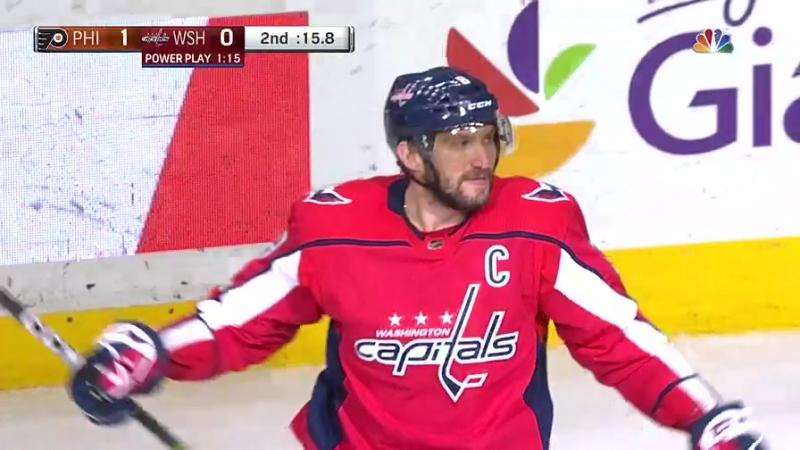 29-й гол Александра Овечкина в сезоне НХЛ Вашингтон Кэпиталз - Филадельфия Флайерз 21.01.2018