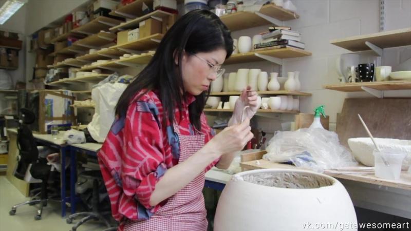 Скульптуры из фарфора художника-керамиста Hosono Hotomi (Япония)