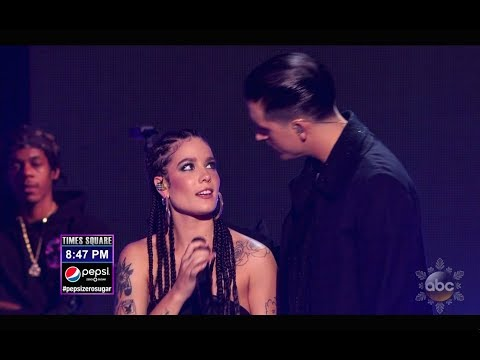 G-Eazy Halsey and - Him I (Best Quality - New Year's Rockin' Eve with Ryan Seacrest 2018)