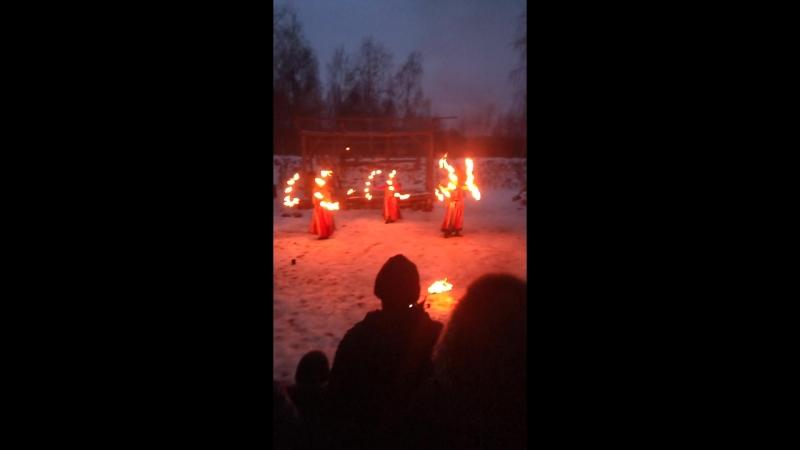 Огненное шоу в деревне викингов КАУП 2018 18 февраля