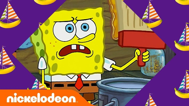 SpongeBob Patrick: The Wet Painters 🎨 in 5 Minutes | SpongeBob SquarePants | Nick