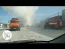 На Хатын-Юряхском шоссе сгорела иномарка