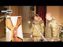 Луганск. 11 апреля, 2015. Батя Павел Дремов получил знамя от Плотницкого