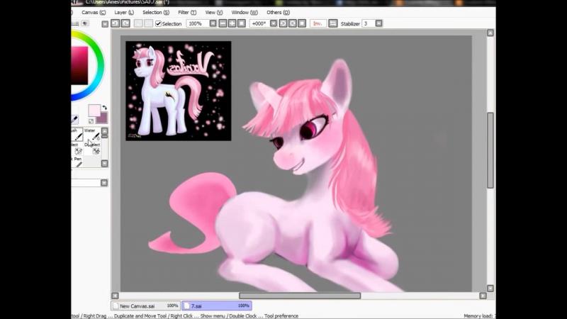 SPEED PAINT_ My Little Pony Vanitas (как рисовать пони в саи)