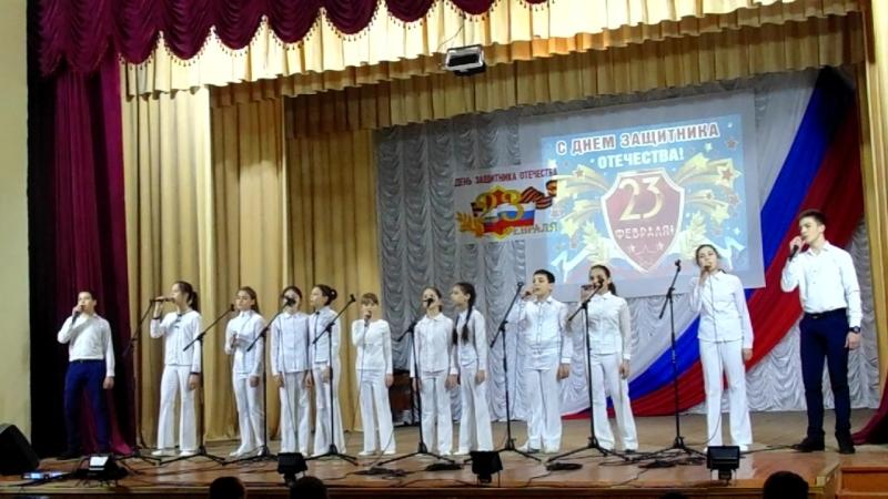 Мы за любовь мы против войны в исполнении вокальной группы Непоседы в Советском Детская школа искусств (рук. Н. Абтишаева)