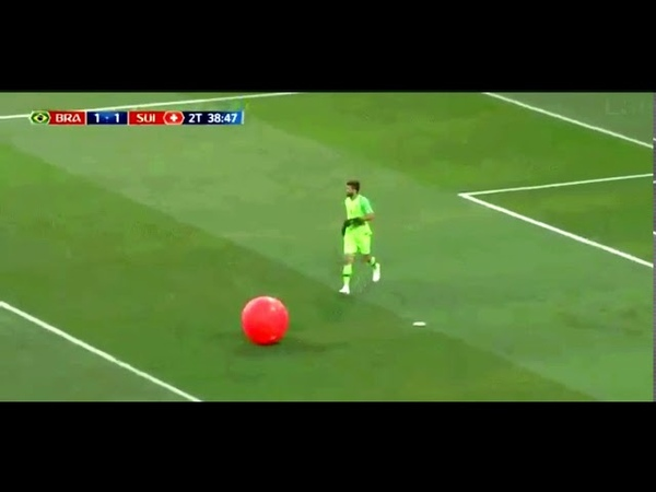 Alison Becker DISAPPEARS AFTER POPPING BALLOON | Funny FIFA World Cup 2018 MOMENTS | BRA VS SUI 1-1